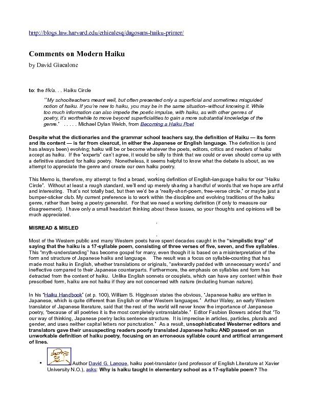 Diglibbiblio-Comments on Modern Haiku by David Giacalone.pdf