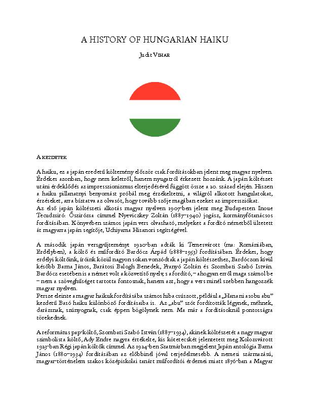 Amagyarhaikutörténete [PDF]