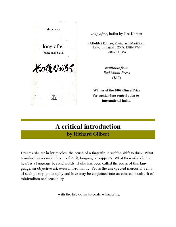 A Critical Introduction to long after, haiku by Jim Kacian, by Richard Gilbert.pdf