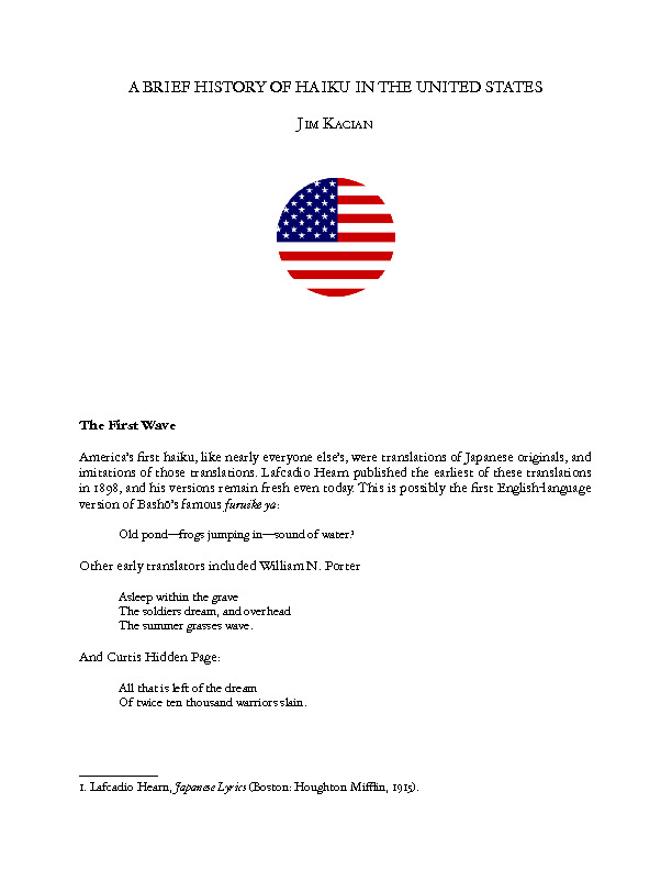 A Brief History of Haiku in the United States.pdf