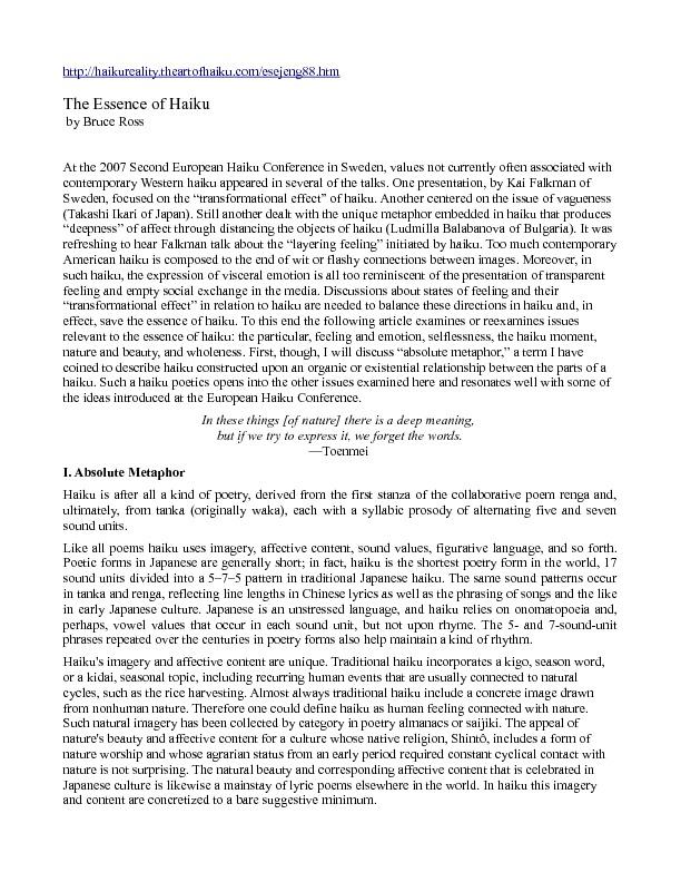 The Essence of Haiku.pdf