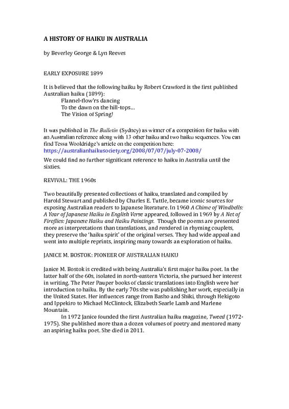 georgeandreeves_ahistoryofhaikuinaustralia.pdf
