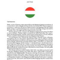 A History of Hungarian Haiku in English [PDF]