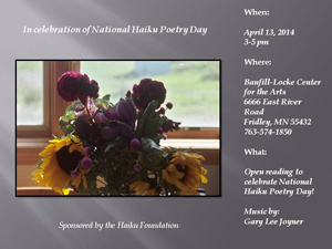 Nationalhaikupoetryday2014
