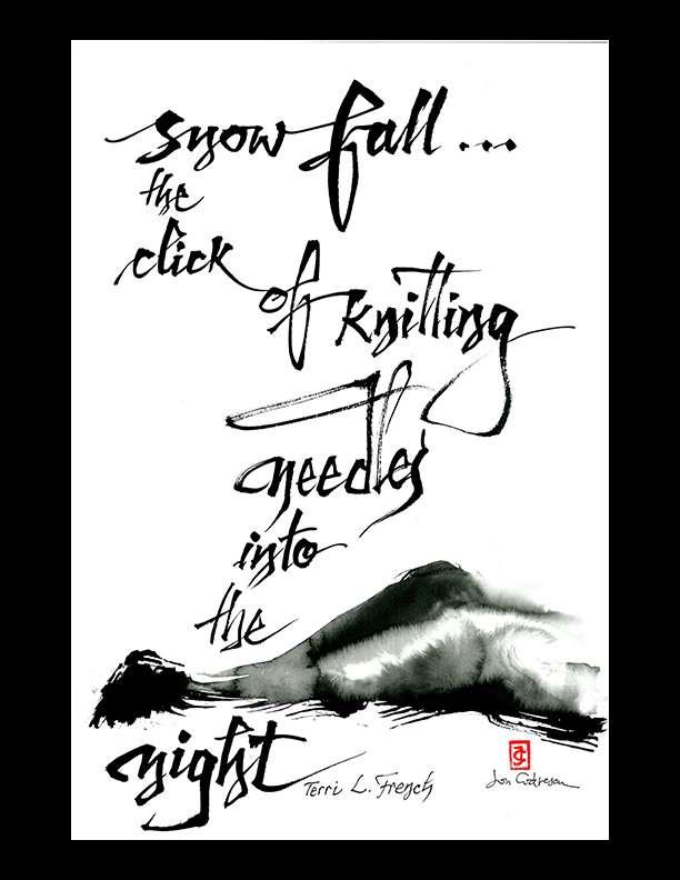 """Terri L. French — """"snow fall"""""""