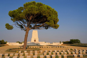 Lone Pine cemetery and memorial, Gallipoli. Image: Wikipedia.
