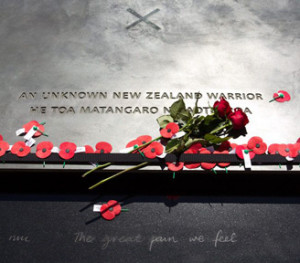 Tomb of the Unknown Warrior, National War Memorial Pukeahu, Wellington, New Zealand. Image: Andy Palmer, Manatū Taonga (Ministry of Culture and Heritage website).