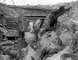 Cheshire regiment, The Somme, July 1916. Image: Wikipedia.