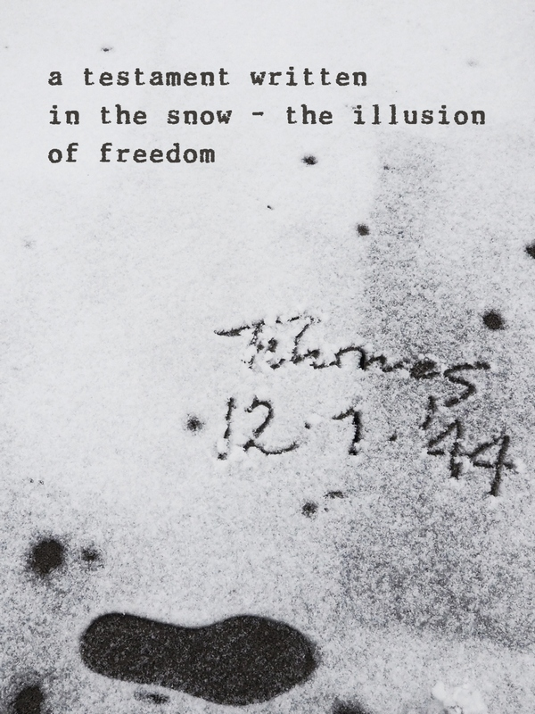 written in snow