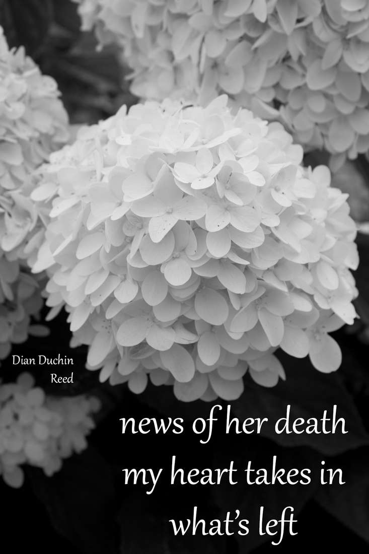 news of her death